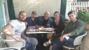 D. Rittel with J. Reboul Corpa, Prof. Rodriguez-Martinez, Prof. G. Vadillo and D.Aranda Iglesias
