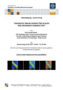 Rhe announcement on Prof. Rittel's seminar
