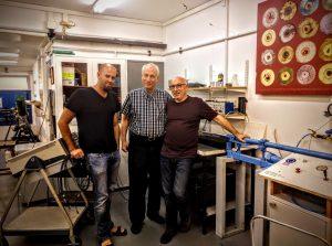 Prof. A. Needlemanin the Materials Mechanics Center, with Prof. Rittel & Prof. Osovsky