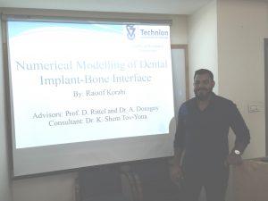 Raoof Korabi defending his master's research