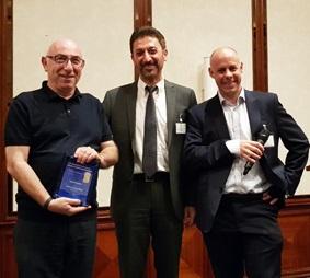 Plenary Speaker Professor Daniel Rittel, Technion, Israel with Dr Salih Gungor and Professor Simon Quinn