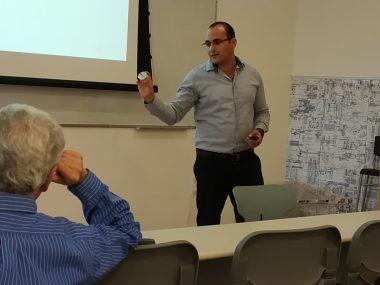 Picture 1 of Today, Adam Godinger gave his M.Sc. seminar