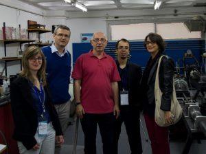 (right to left) Prof. A. Pandolfi, Prof. J.A. Rodriguez-Martinez, Prof. E. Mazza and soon to be Doc. E. Bortot.