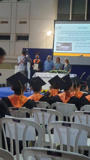 Picture 3 of Today, Olga Afiyan and Daniel Vilyatser received their M.Sc. diploma.